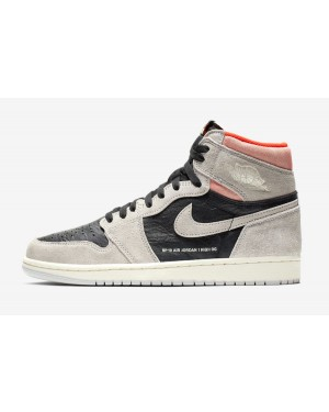 Air Jordan 1 Retro High OG (Grises/Hyper Crimson/Negras) 555088-018